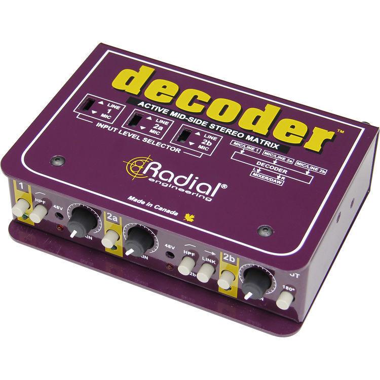 Radial Engineering Decoder Mid-Side Mic Matrix & Preamp Pre Amp R800 1415 NEW