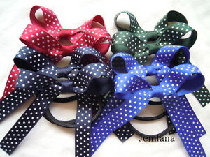 Lots colour to choose for set of 2 Jemlana/'s school hair ties for girls