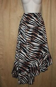 Womans-Size-M-or-L-Animal-Print-Full-Skirt-Elastic-Waist-by-Studio-West-NEW