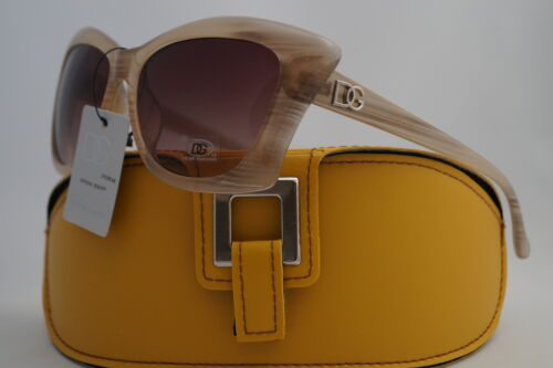 D.G SUNGLASSES PATTERNED CREAM FASHION HOLIDAY STYLE+FREE GIFT YELLOW CASE *514