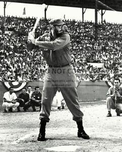 FIDEL-CASTRO-PLAYS-BASEBALL-IN-HAVANA-IN-1959-8X10-PHOTO-OP-029
