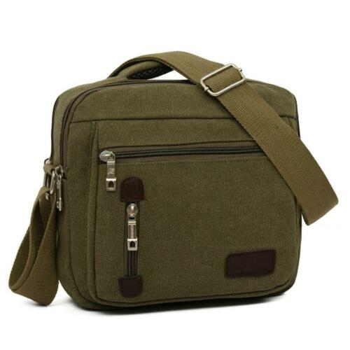URBAN Men Messenger Bag Canvas Military Travel Cross Body Shoulder Sling Chest