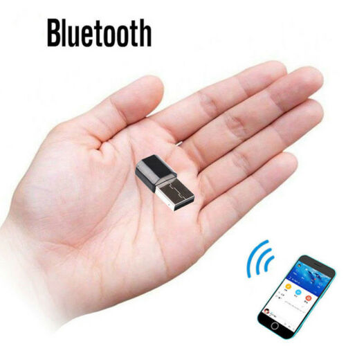 1PC Home Car USB Wireless Bluetooth 3.5mm AUX Audio Stereo Receiver Adapter NEW!