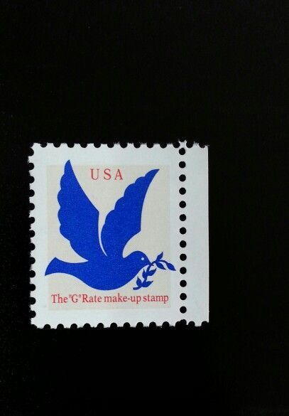 "1994 3c Dove, The ""G"" Rate make-up stamp Scott 2878 Min"