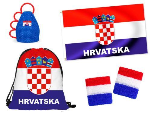WMTeampaket Kroatien FP-18 Fan-Artikel Fußball 5tlg.Set Länder Flagge Caxirola