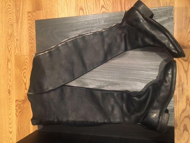 Guidi Women black boots size 37