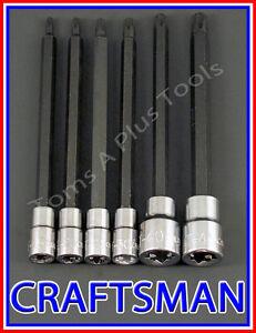 Majsterkowanie Star bit ratchet wrench socket set Narzędzia ręczne CRAFTSMAN HAND TOOLS 7pc LOT External Torx