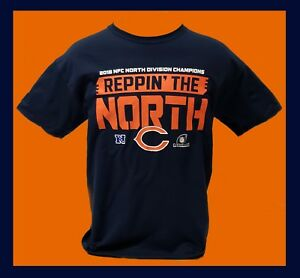 94f153241 Image is loading CHICAGO-BEARS-2018-N-F-C-Division-Champions-T-Shirt-