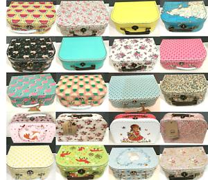 Details about Decorative Suitcases 8 Sizes Wedding Storage Boxes Retro  Designs Children Party