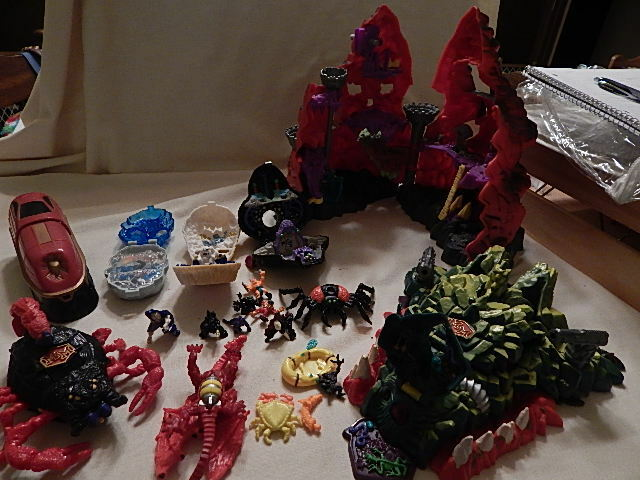 Vintage Mighty Max Doom Play sets Skull Mountain & More