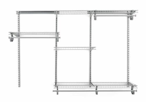 Chrome ClosetMaid 7880800 ShelfTrack 4 to 6 Foot Wide Closet System Kit