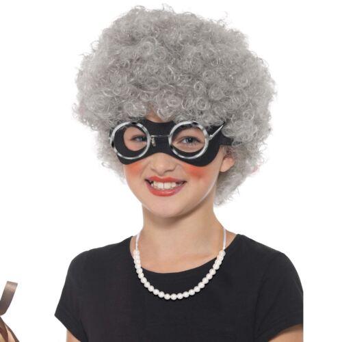Girls Boys David Walliams Gangsta Granny Kit Wig Eyemask Bag Necklace Glasses