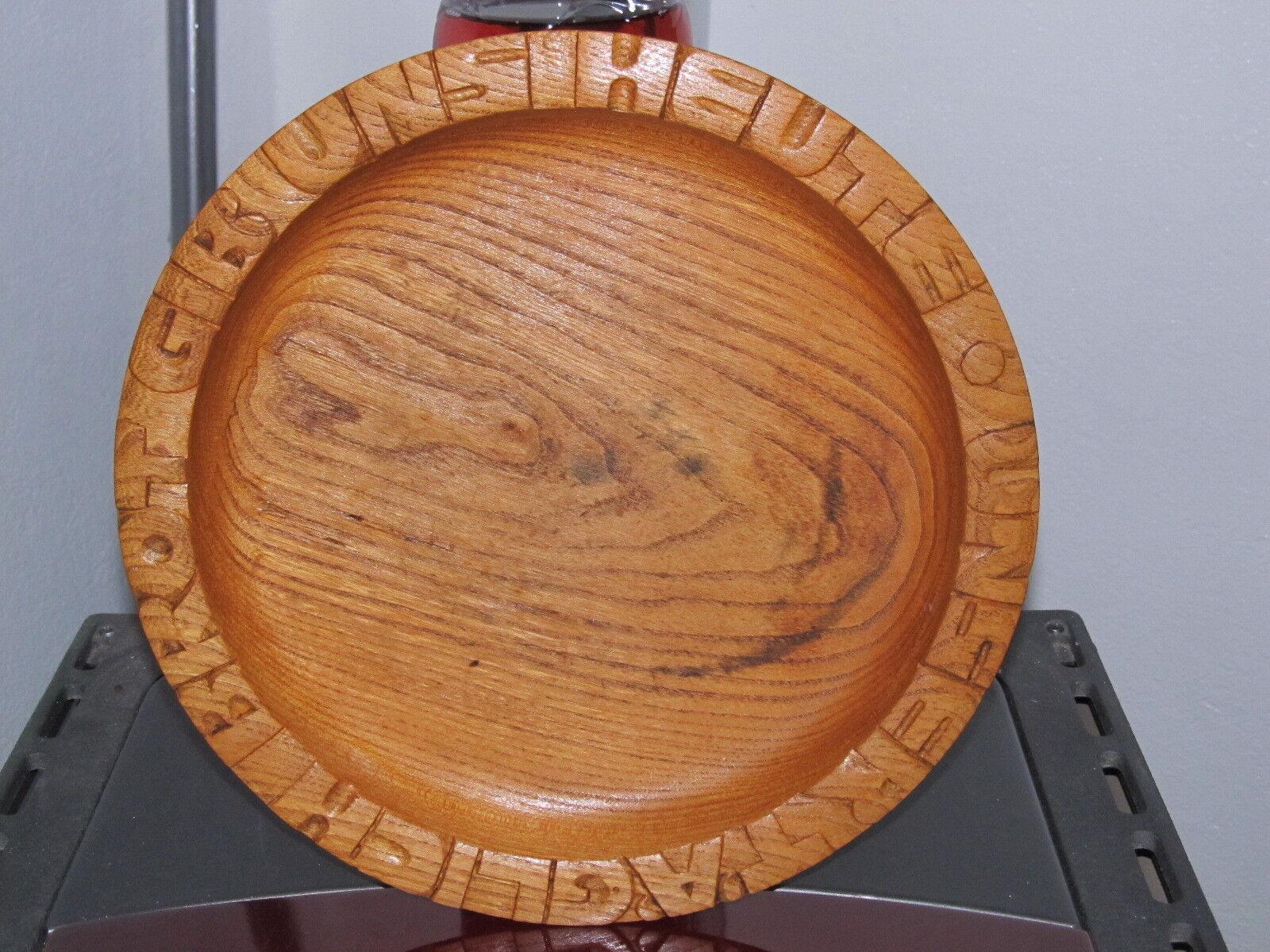 Holzteller Unser Täglich Brot Gib Uns Heute Handarbeit Alt Kirche Landhausstil