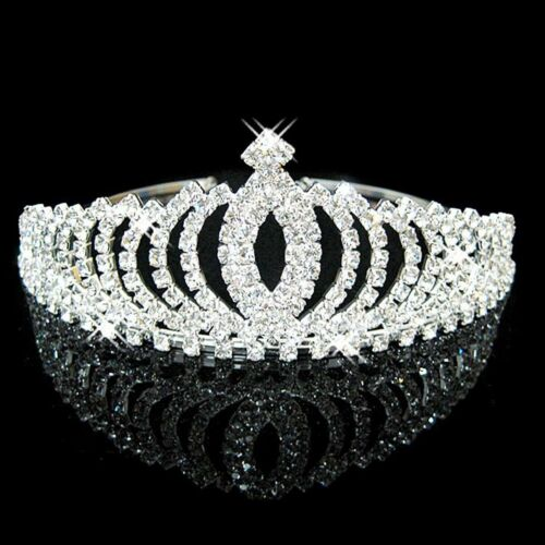 Wedding Bridal Tiara Rhinestone Crystal Crown Women Girls Pageant Prom Headband