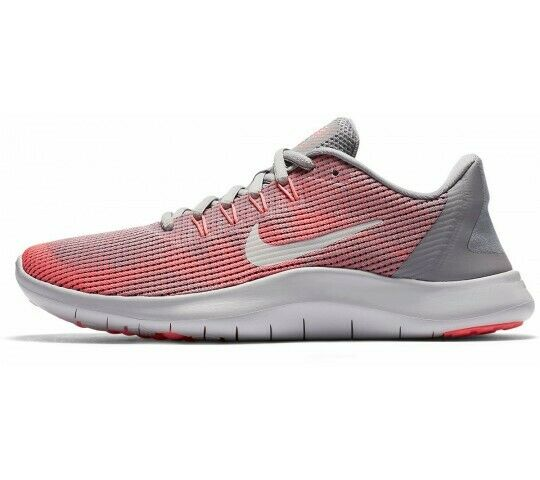 6c5bd5c51eac3 Nike Flex 2018 RN Womens Aa7408-005 Crimson Pulse Grey Running Shoes Size  8.5 for sale online | eBay