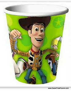 TOY-STORY-3-Party-Supplies-CUPS-x8-Birthday-Decoration-Woody-Buzz-Favors-Jessie