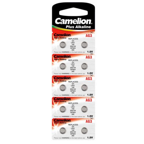 10 x pilas de botón baterías-ag3 384 392 lr41 LR 41 sr41 rw87 v3ga-Camelion