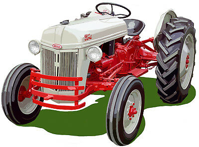 Fordson Model F canvas art print Ford farm tractor by Richard Browne