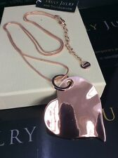 Contemporary Long Rose Gold Necklace With Large Heart Pendant - Gift Packaged