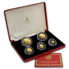 1988 Isle of Man 5-Coin Gold Manx Cat Proof Set - SKU #59944