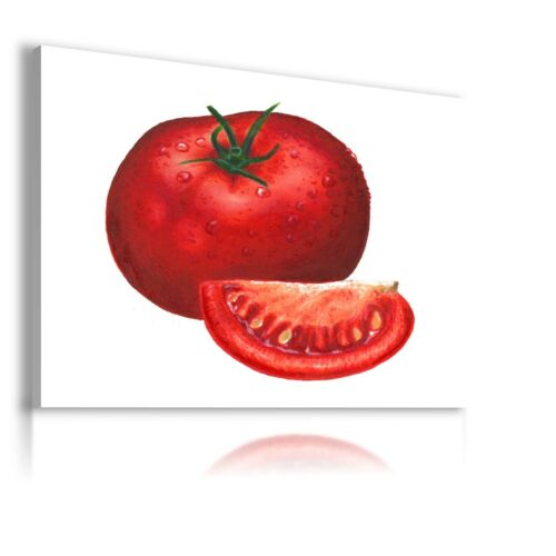 TOMATO VEGETABLES KITCHEN MODERN DESIGN CANVAS WALL ART PICTURE LARGE FD1 X