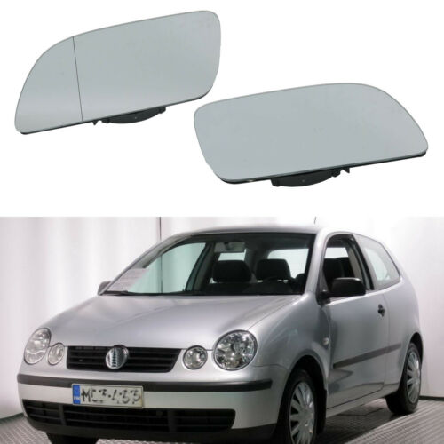 2Pcs For VW Polo 2002 2003 2004 2005 Wing Door Mirror Glass Heated
