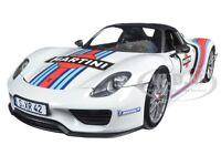 2013 Porsche 918 Spyder Martini Weissach 1 1/18 By Minichamps 110062440