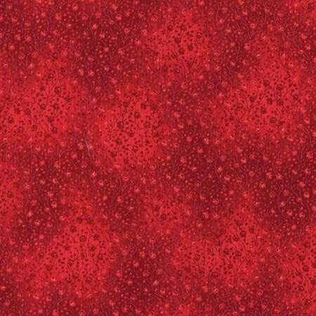 Robert Kaufman Fabrics Fusions Floral Scarlet