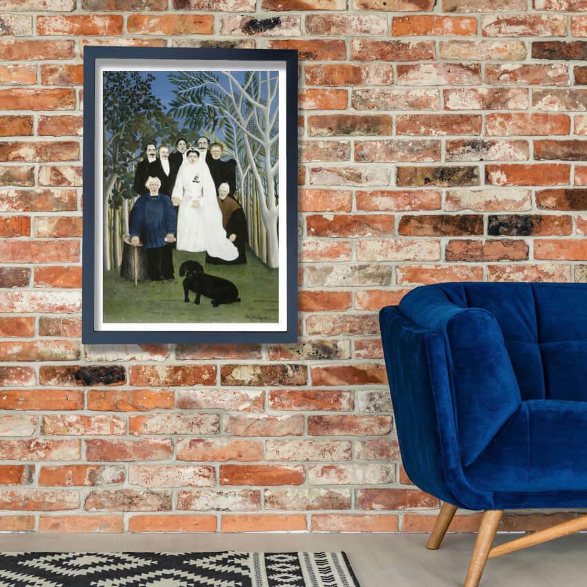 Henri Rousseau - The Wedding PKunsty Wand Kunst Poster Drucken
