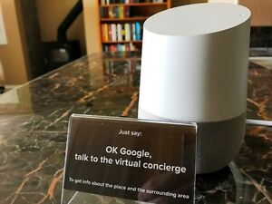 Vacation-Rental-Virtual-Concierge-tabletop-signs-for-Google-Home-2-pack