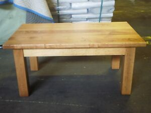 Image Is Loading Customer Returned Distressed Blonde Wood Coffee Table 42