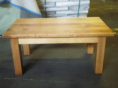 24 X 24 Coffee Table.Customer Returned Distressed Blonde Wood Coffee Table 42 X 24 X 19 Ebay