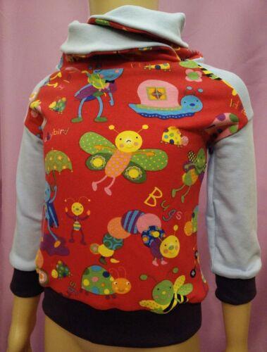 Pullover, Blu chiaro, fasciatoio collo, Maggiolino colorata, handmade