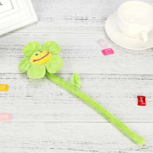 Washable Plush Daisy Flower With Smiley Happy Faces Bendable Stems Sunflower Toy