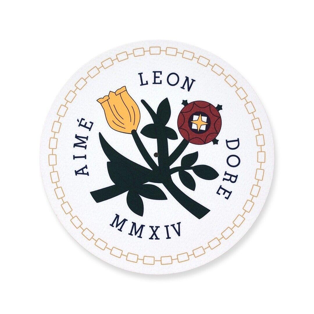 NEW Aime Leon Dore Queens crest queens slip mat (1 black 1 white) polyfelt