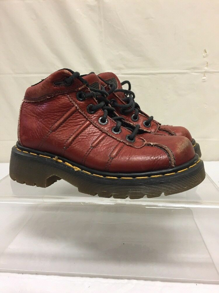 Dr Martens Womens Ankle Boots Sz 3 Burgundy Oxblood Red