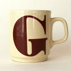 image is loading vintage initial g letter coffee mug made in
