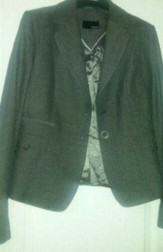 Taglia Blazer Successivo grigio gessato 12 giacca Bnwot qfSvwdI