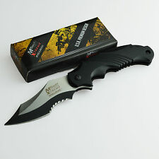MTech Extreme 440C Assisted Opening Black Handle Tactical Knife MX-A801BK