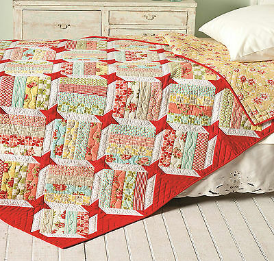 Scrappy Quilt Pattern~FAST & EASY~Emma's Star II~NEW~Scraps or Jelly Rolls~ #429