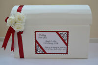 Stunning personalised wedding card chest post box lots of colours decoration (4)
