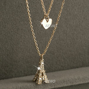 18k-gold-gf-made-with-Swarovski-crystal-eiffel-tower-heart-pendant-necklace