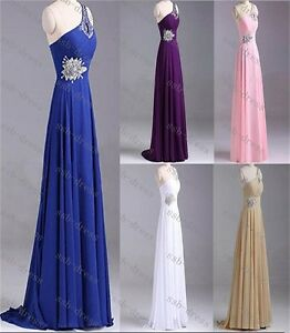 STOCK-Long-Chiffon-Formal-Prom-Party-Evening-Wedding-Bridesmaid-Dress-Size-6-16