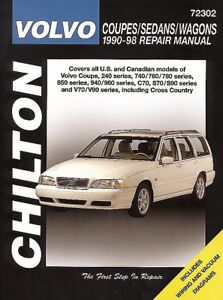 repair manual chilton 72302 fits 93 97 volvo 850 35675084284 ebay rh ebay com