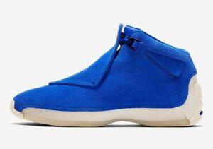c28a99d2937898 Details about Nike Men s Air Jordan 18 RETRO BLUE SUEDE Shoes Racer Blue  AA2494-401 c