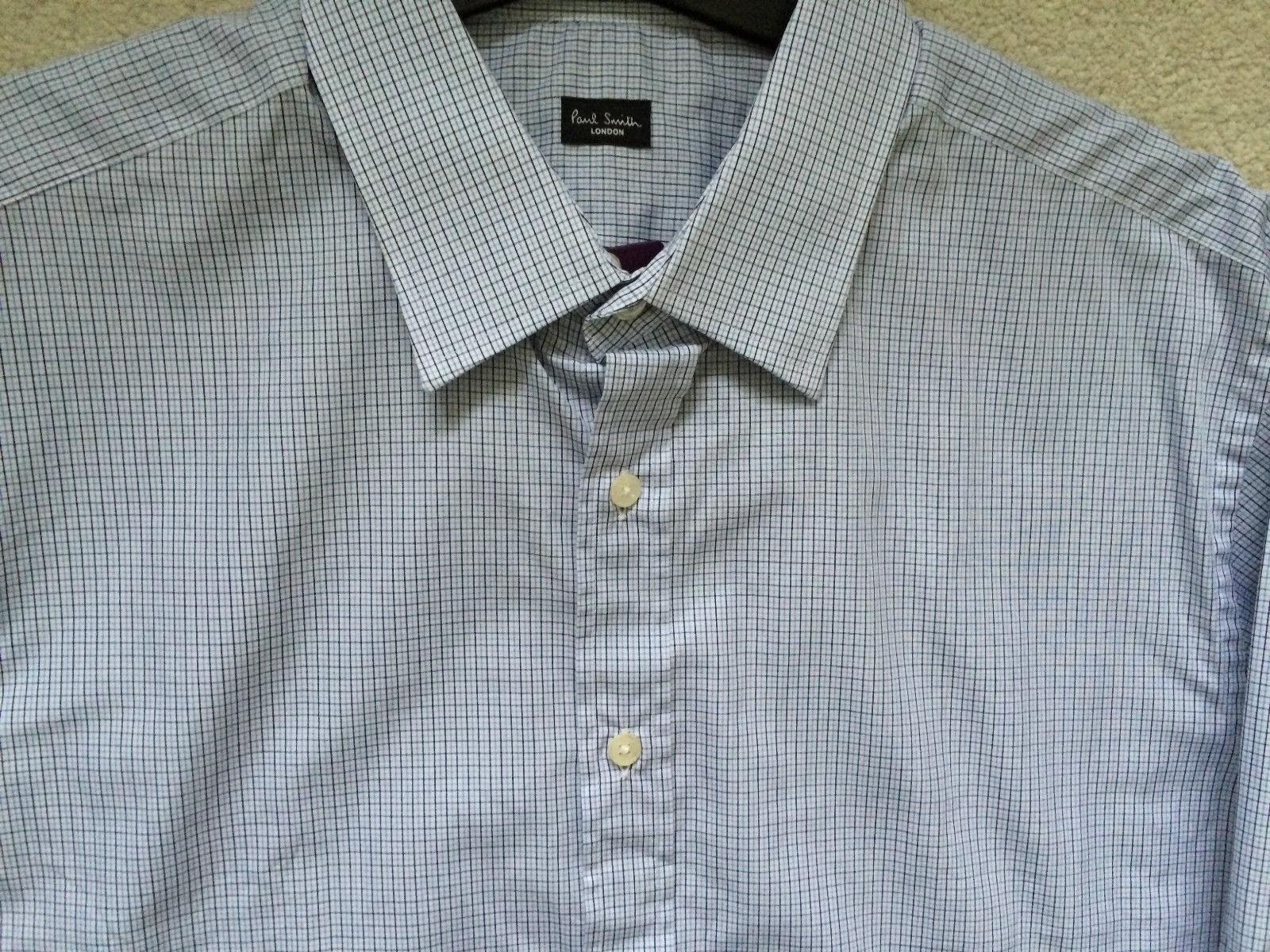Paul Smith London LS Camicia a quadri taglio classico 17 43 - P2P 57.1Cm