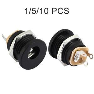 5.5mm x 2.1mm DC Presa di Alimentazione TELAIO DONNA-montaggio del Pannello Connettore Jack-CCTV