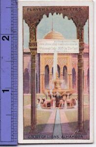 Court-of-Lions-Alhambra-Granada-Spain-Moor-Islam-90-Y-O-Ad-Trade-Card