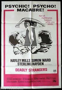 DEADLY-STRANGERS-Original-ONE-SHEET-Movie-Poster-Hayley-Mills-Simon-Ward