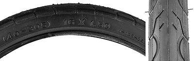 1 pair of 16 x 1.50 Bike Bicycle Tires Street Tread Black Kenda Kwest